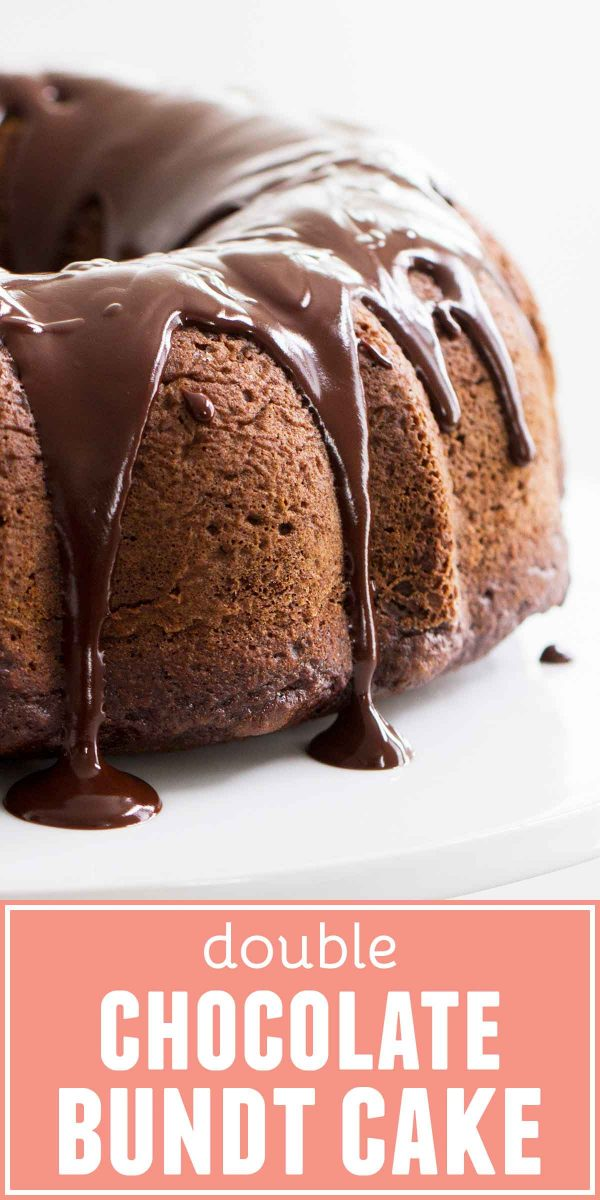 It doesn't get much easier than this Double Chocolate Bundt Cake - a moist chocolate cake with a satiny smooth chocolate glaze. This is a cake anyone can make, and that everyone wants to eat!