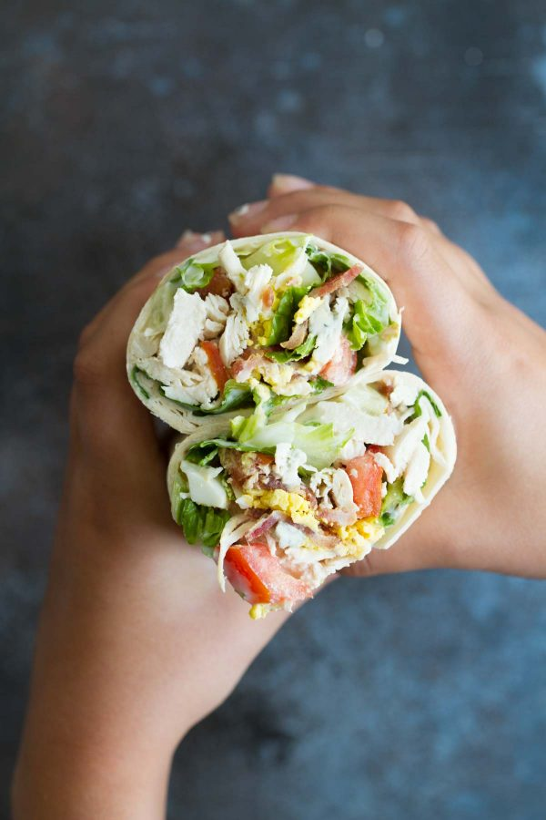 Chicken Cobb Salad Wraps - easy lunch ideas