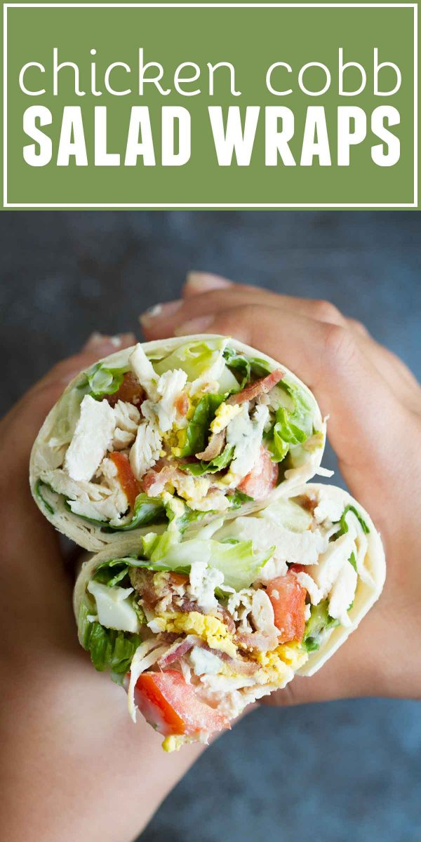 How to make Chicken Cobb Salad Wraps