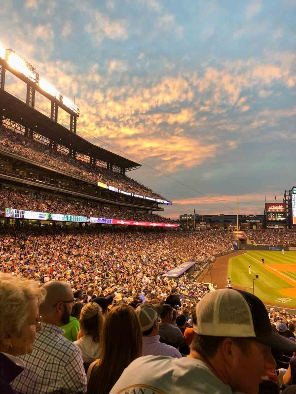 Rockies game at Coors Field, Denver