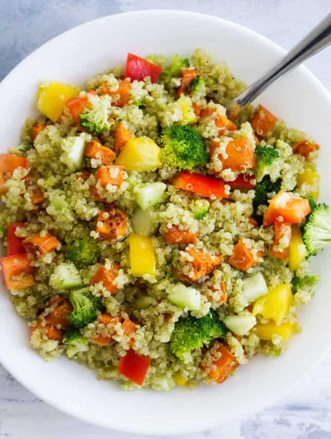 Quinoa and Roasted Sweet Potato Salad