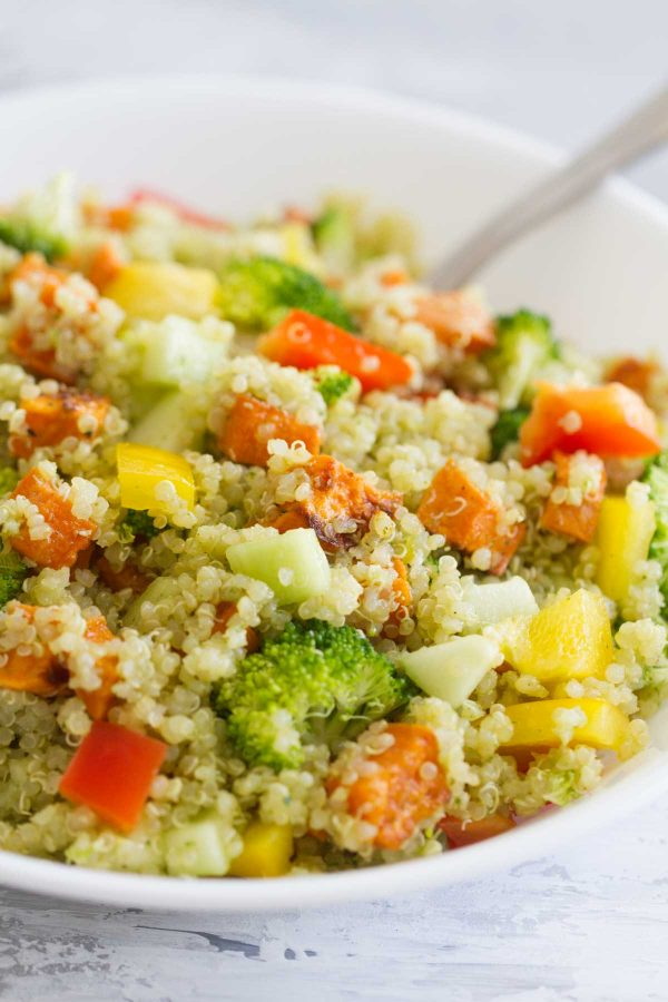 Quinoa and Roasted Sweet Potato Salad recipe