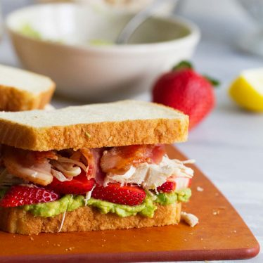 Strawberry Avocado Chicken Club Sandwich recipe