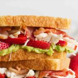 Strawberry Avocado Chicken Club Sandwich
