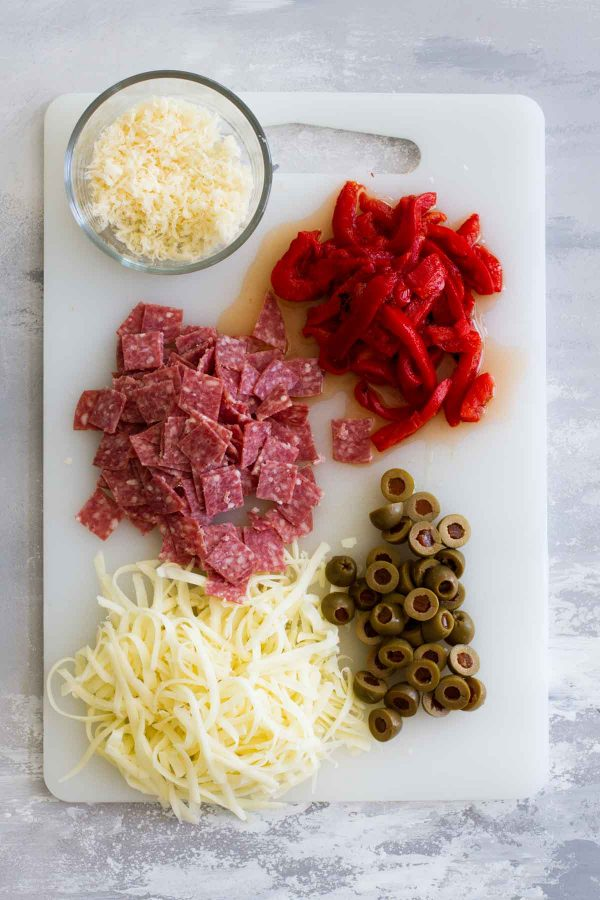 Ingredients for Antipasto Pizza
