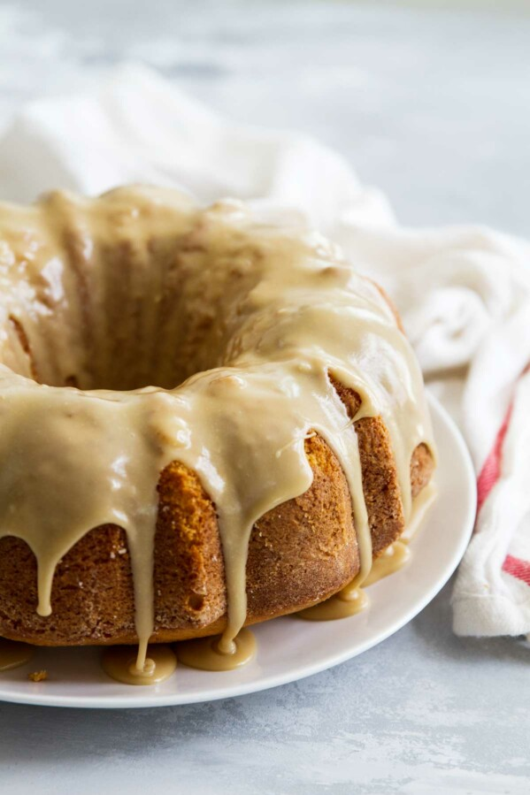 How to make Buttermilk Pound Cake with Caramel Icing