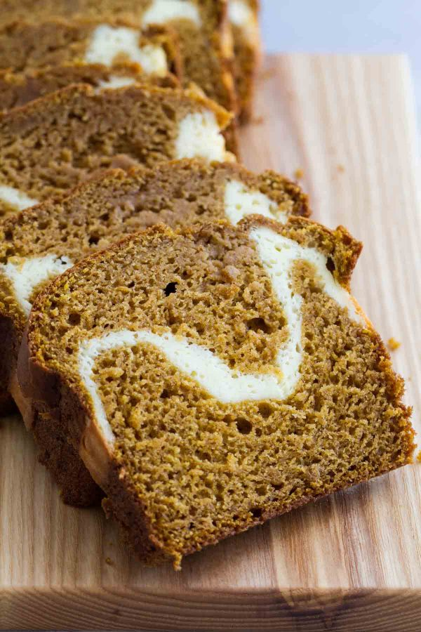 Pumpkin Bread Recipe with Cream Cheese Center