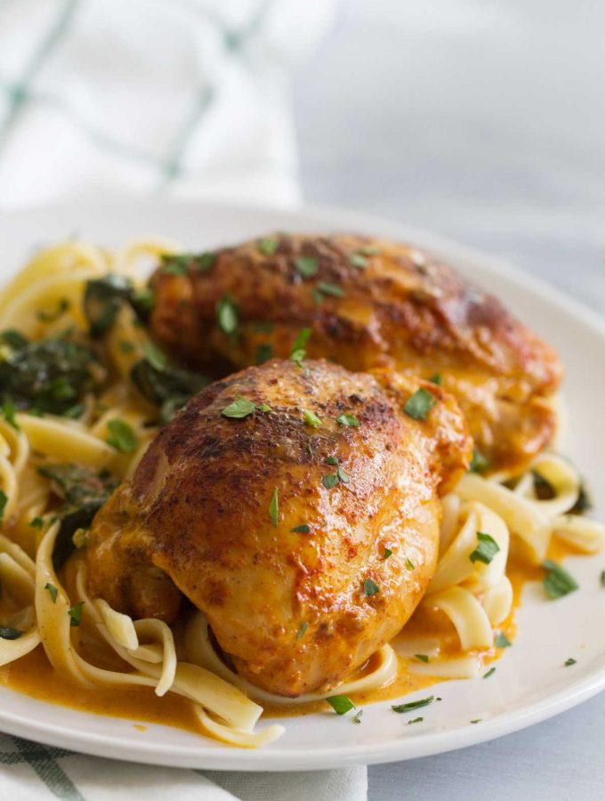 Garlic Paprika Instant Pot Chicken Thighs