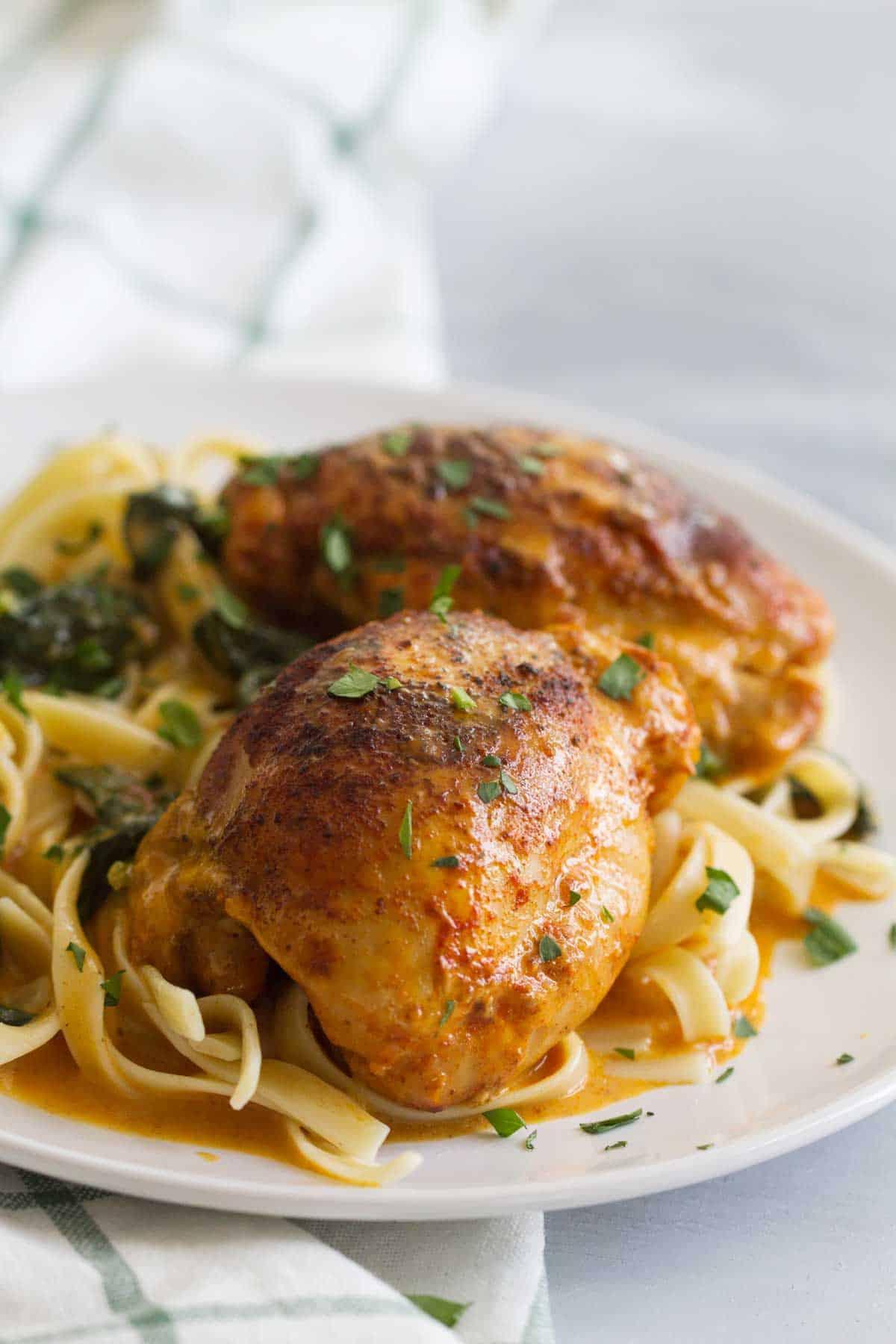 Garlic Paprika Instant Pot Chicken Thighs Taste And Tell