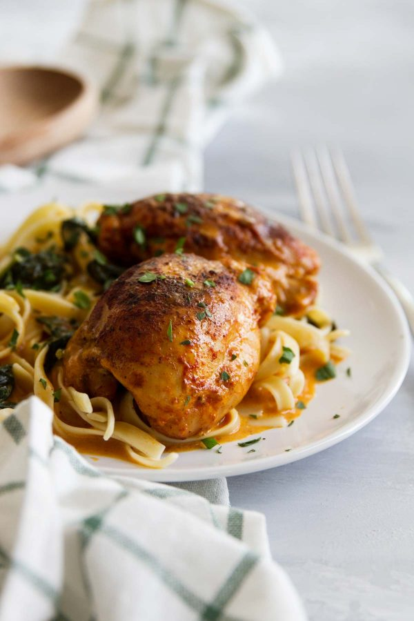 Pressure Cooker Chicken Thighs with Garlic and Paprika