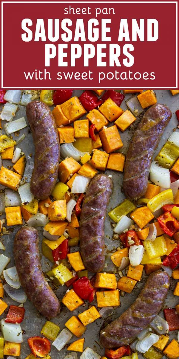 How to Make Sheet Pan Sausage and Peppers with Sweet Potatoes