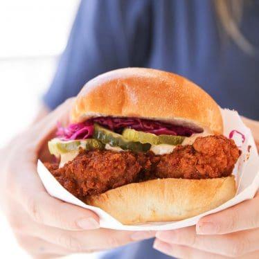 Hot Chicken Sandwich from Pretty Bird