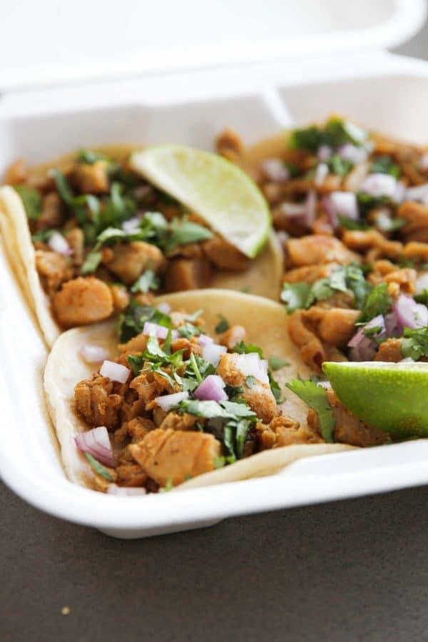 Chicken Street Tacos from Mi Angel Street Tacos