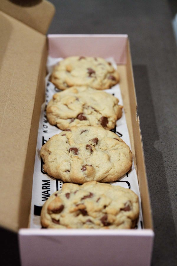 Hot Chocolate Chip Cookies from Crumbl - Utah