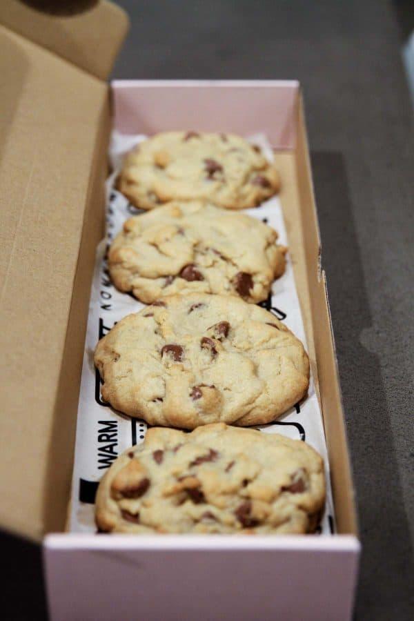 Hot Chocolate Chip Cookies from Crumbl - Utah
