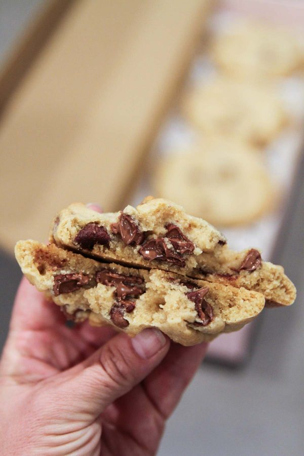 Hot Chocolate Chip Cookie from Crumbl