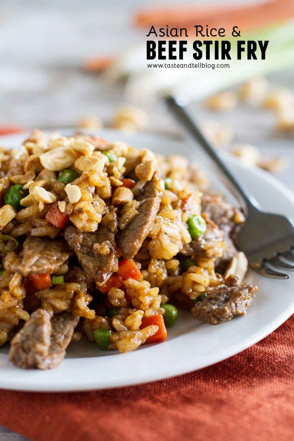 Asian Rice and Beef Stir Fry Recipe