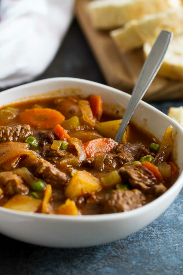 Bowl of Homemade Beef Stew