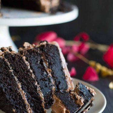 Perfect Dark Chocolate Cake Recipe with Nutella Buttercream