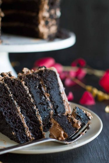 Perfect Dark Chocolate Cake Recipe with Nutella Buttercream