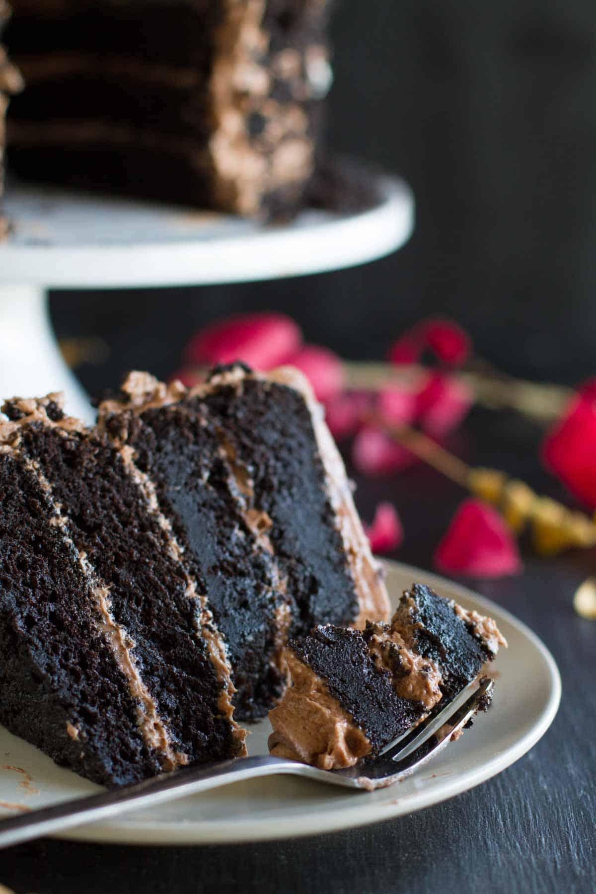 Dark Chocolate Cake With Nutella Buttercream Taste And Tell