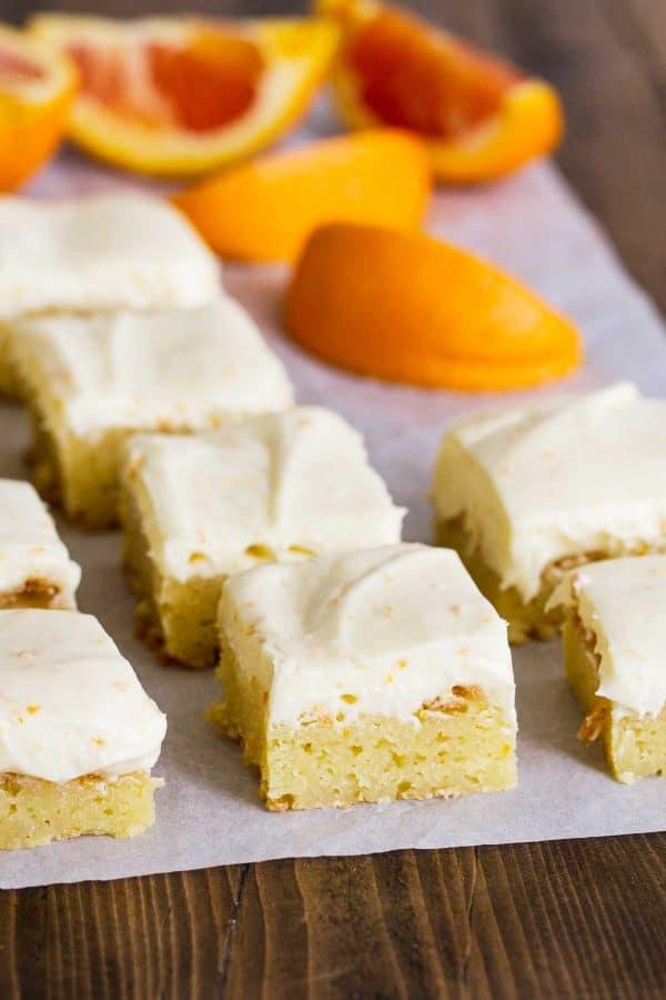 Batch of Orange Blondies
