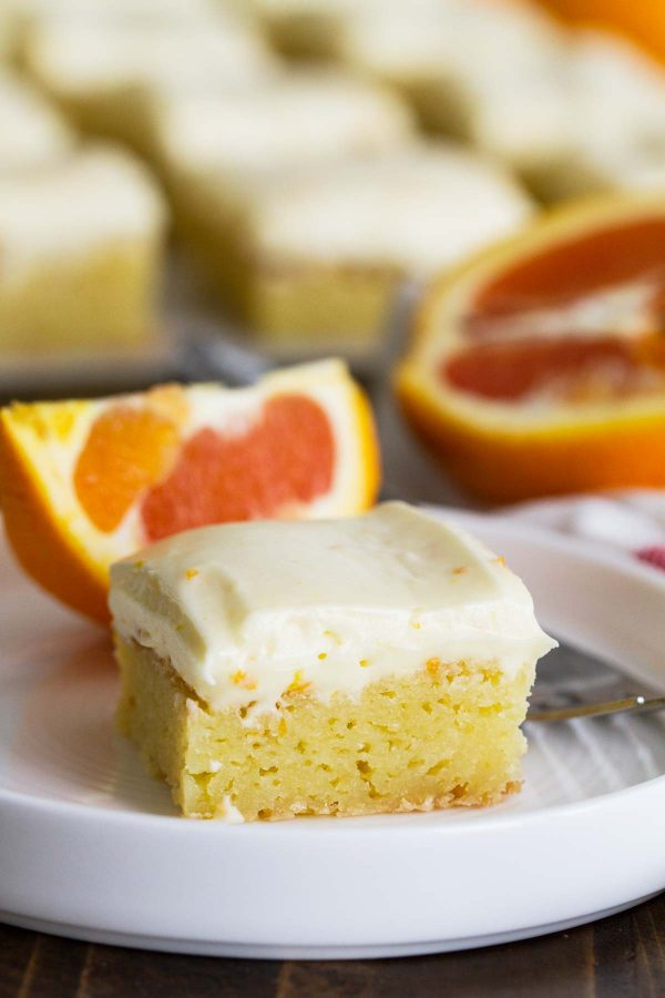 Orange Blondies on a Plate
