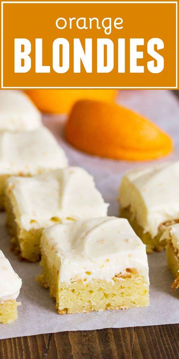 How to Make Orange Blondies