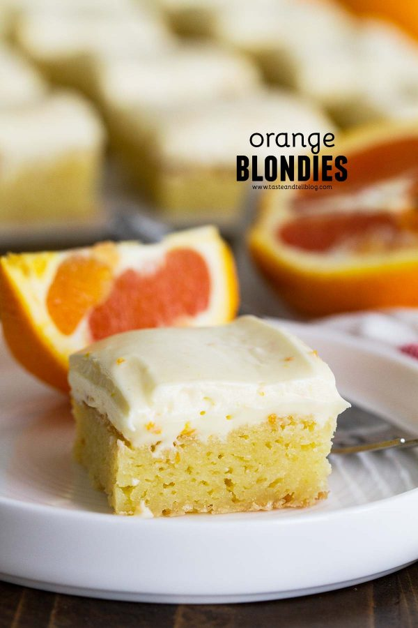 Orange Blondies Recipe