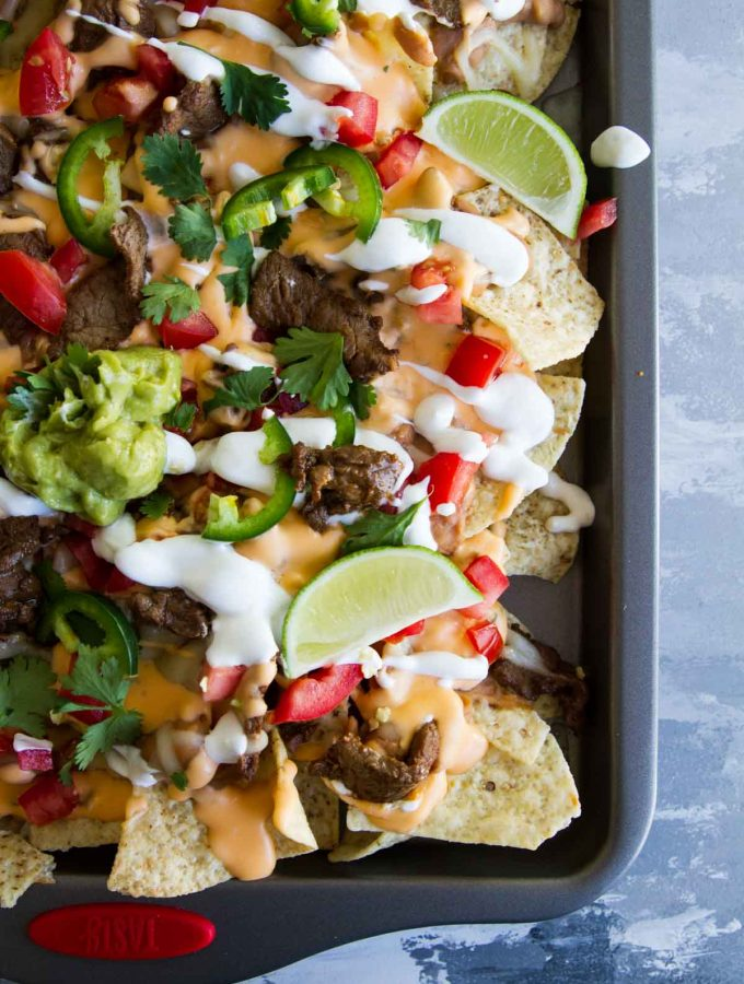 How to make Sheet Pan Beef Nachos Supreme