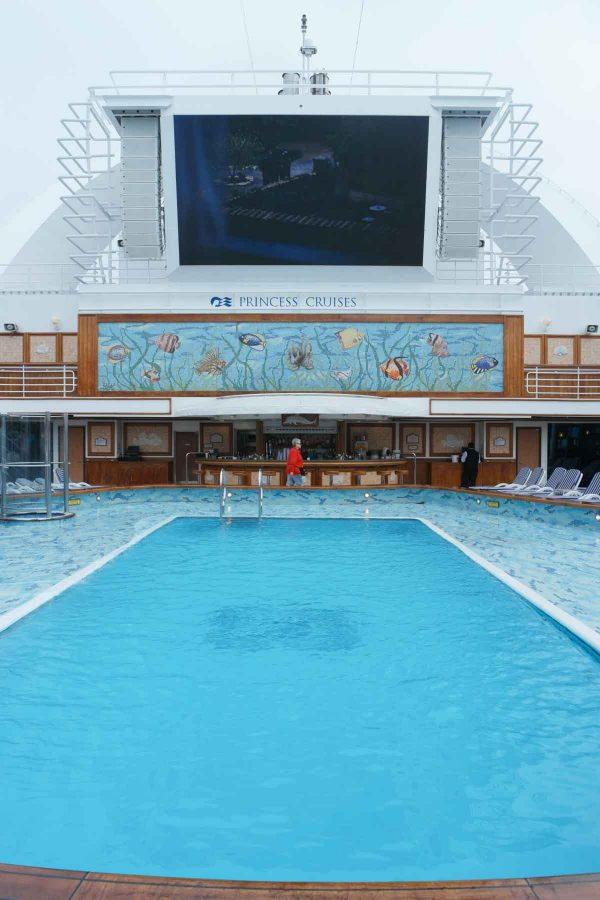 Swimming pool on the Ruby Princess