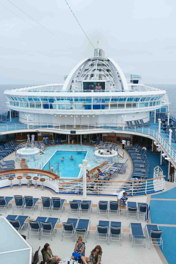 View of the Ruby Princess - Princess Cruises