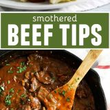 Smothered Beef Tips Recipe