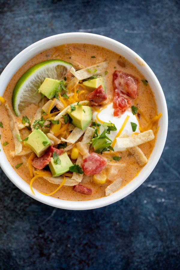 How to make Creamy Chicken Tortilla Soup