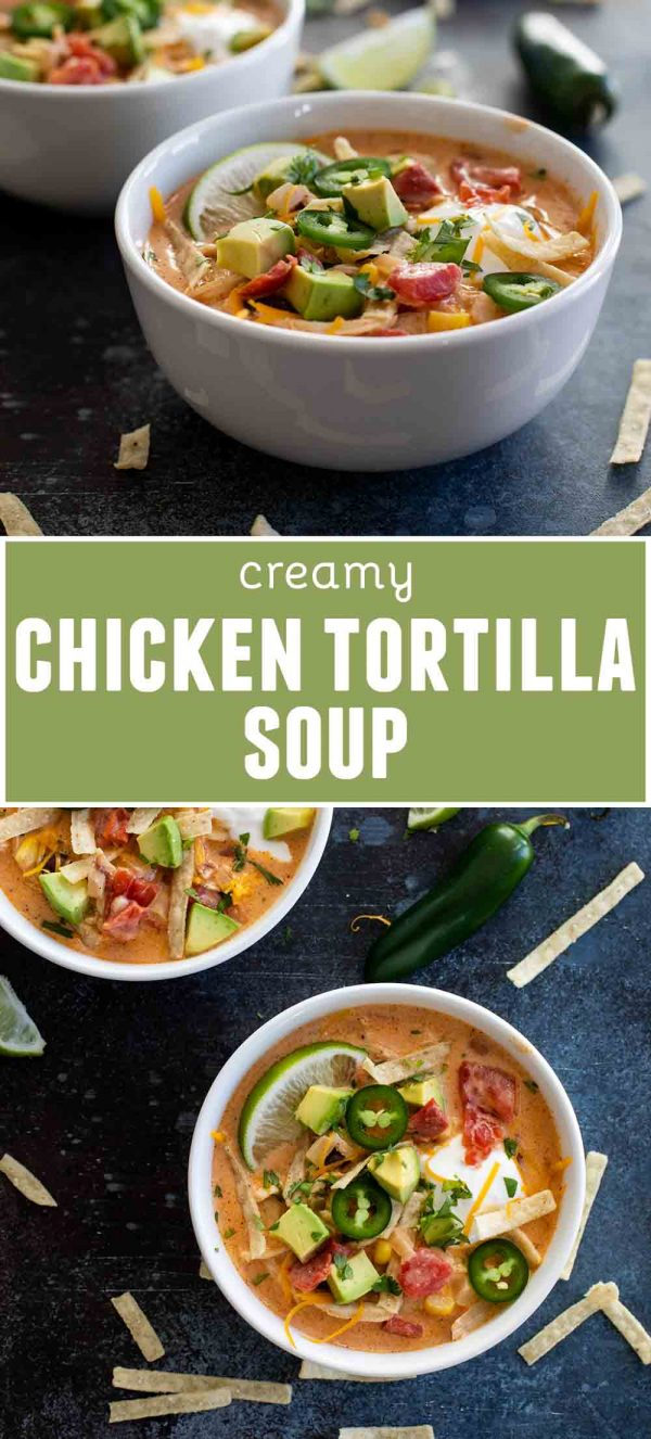 Creamy Chicken Tortilla Soup