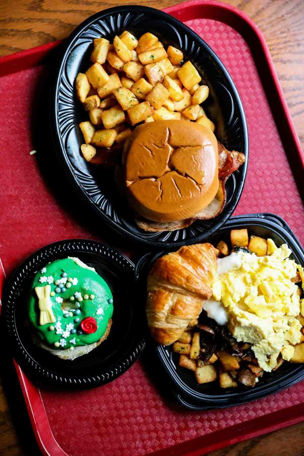 Breakfast from Red Rose Tavern in Disneyland