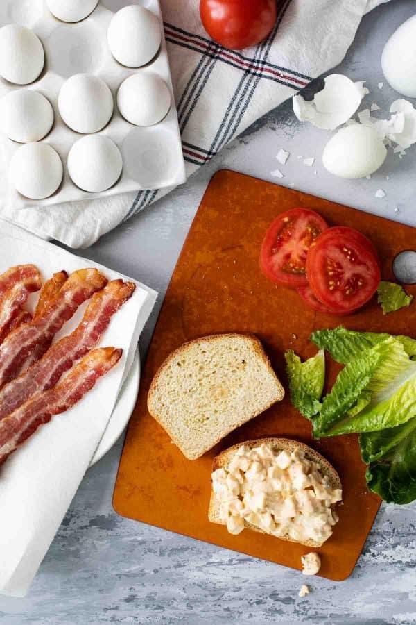 Ingredients in Egg Salad BLTs