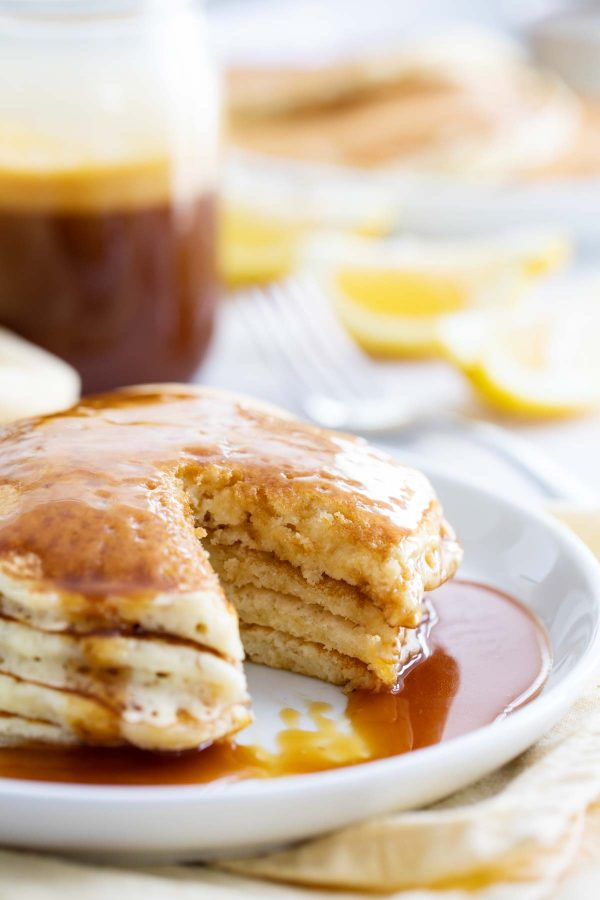 How to Make Lemon Pancakes with Homemade Buttermilk Syrup