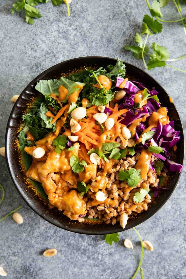 Buddha Bowls with Thai spiced chicken