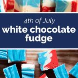 4th of July White Chocolate Fudge
