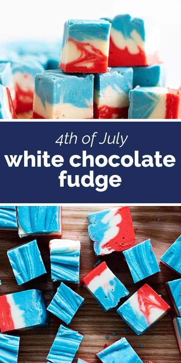 4th of July White Chocolate Fudge