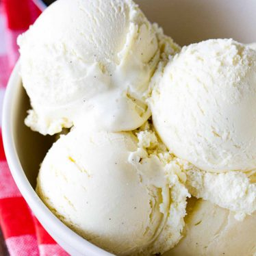 Homemade Vanilla Ice Cream Recipe in a Bowl