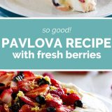 How to Make a Pavlova Recipe with Fresh Berries