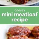 Cheesy Mini Meatloaf Recipe