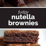 Fudgy Nutella Brownies Recipe
