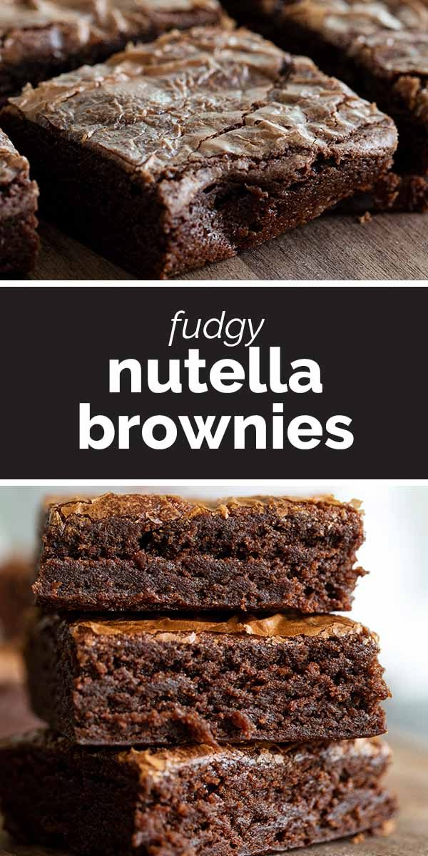 Fudgy Nutella Brownies Recipe
