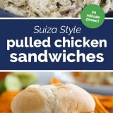 Suizas Style Pulled Chicken Sandwiches Recipe