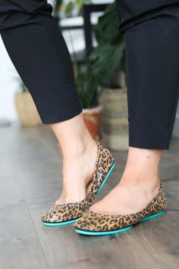 Wearing leopard print tieks