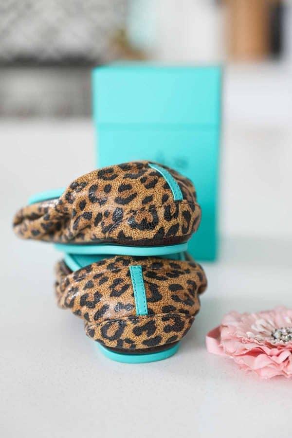 close up of leopard print Tieks