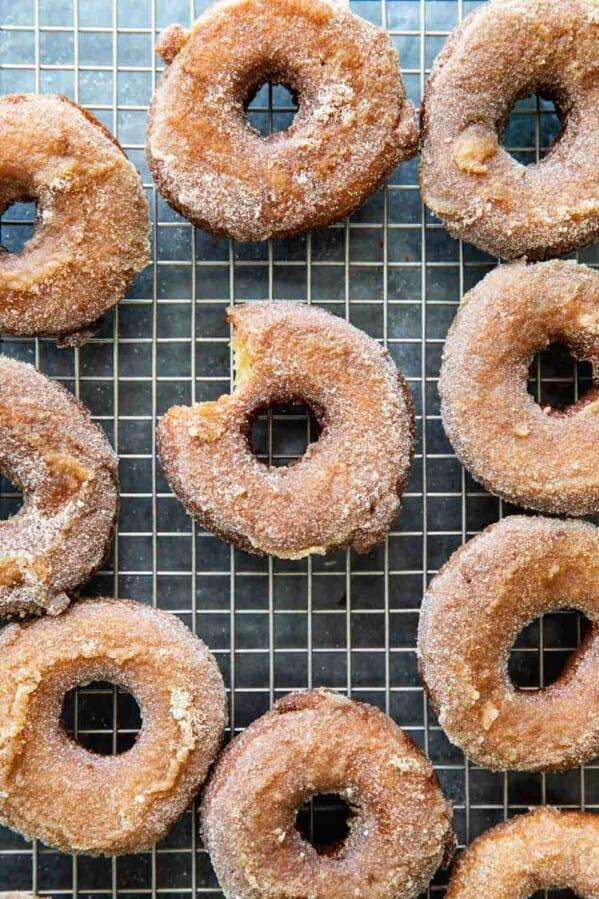 Homemade Apple Cider Donuts